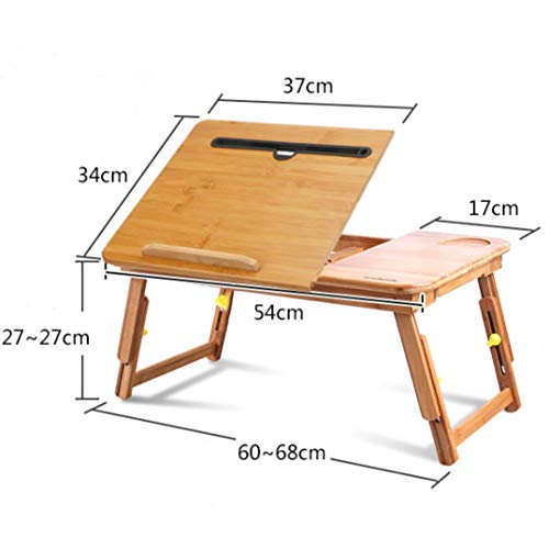 Bureau d'ordinateur de petit espace Bureau d'ordinateur pliant Pour l'écriture de bureau home studio Gain de place/léger Double Lotus (Moyen (54cm))