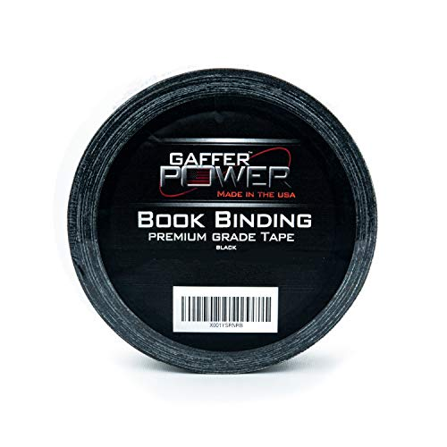 Bookbinding Tape | Cloth Book Repair Tape | Black | USA Quality | 2 in X 15 Yds | by Gaffer Power