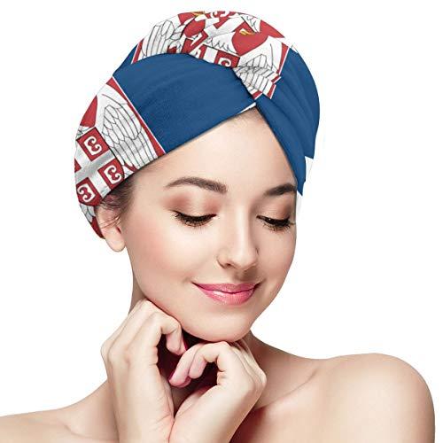 Flagge des serbischen schnell trocknenden Handtuchs für Haar, Vaxiuja trockenes Haar Hut