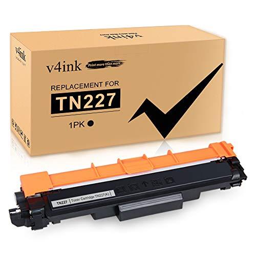V4INK - Cartucho de tóner de Repuesto para Brother TN223 TN227BK TN227, Color Negro, para Brother MFC-l3770CDW MFC-l3750CDW...