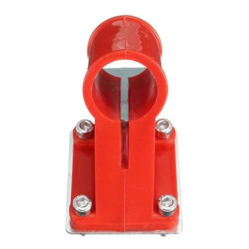 LF-wujin, 1pc Rojo Trimmer Guardia Brida de fijación fijado for el Alcance Largo Strimmer desbrozadora de Eje de 26 mm