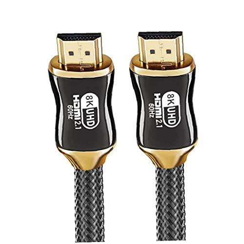 Cable HD 8K Cable Ultra Speed ??Cable de conexión del ordenador del cable para el proyector de TV, la transmisión estable y reduce la pérdida de señal, 200 cm
