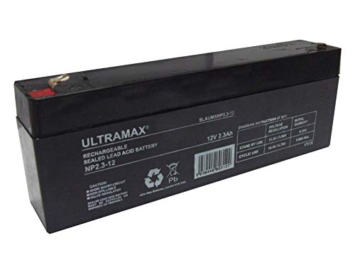 ULTRA MAX NP2.3-12, 12V 2.3Ah LEAD-ACID ALARM BATTERY NP2.1-12