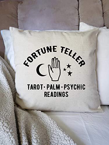 Fortune Teller - Funda de almohada para Halloween, decoración de otoño, póster de lector de tarot, lector de palma, lecturas psíquicas