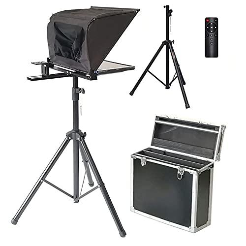MEILINL 15' Teleprompter Kit para Smartphone/Tableta/DSLR Cámara de Vídeo Grabación Entrevista Presentación para Estaciones de Radio y televisión, escuelas