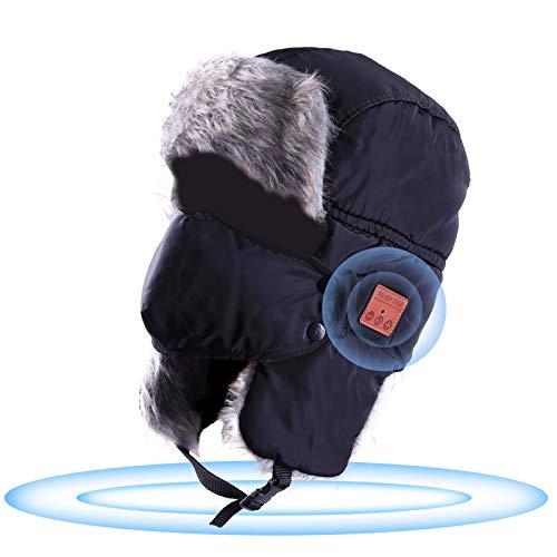 Billion Xin Bluetooth Trapper Hat, Windproof Ski Winter Trooper Music Hat with...