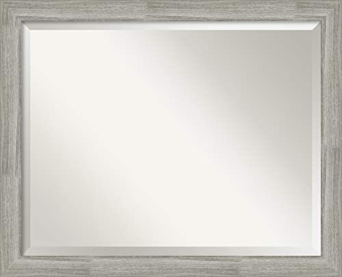 Amanti Art Framed Vanity Mirror   Bathroom Mirrors for Wall   Dove -