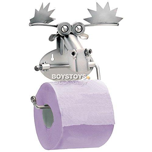 Boystoys.de Metall-Art Design Elch Toilettenpapierhalter