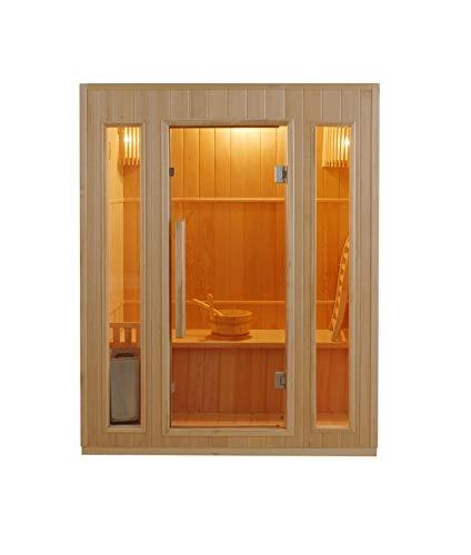 Sauna Finlandese A Vapore 3 Posti Modello Zen 3 Sined