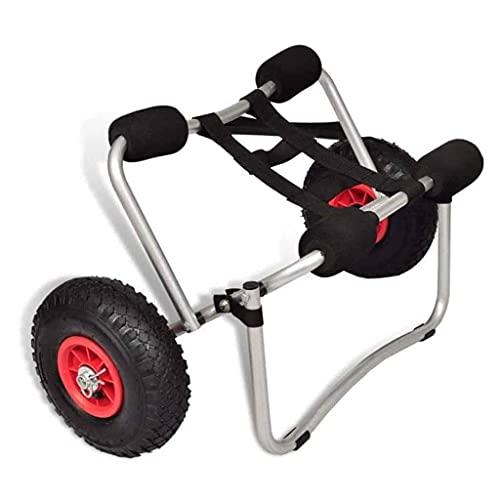 LVLUOKJ Remolque de Kayak, Mango de Espuma, Material de Aluminio, portátil Compacto, fácil de Montar, Resistente Estable, Resistente al Desgaste, para bajío de Playa