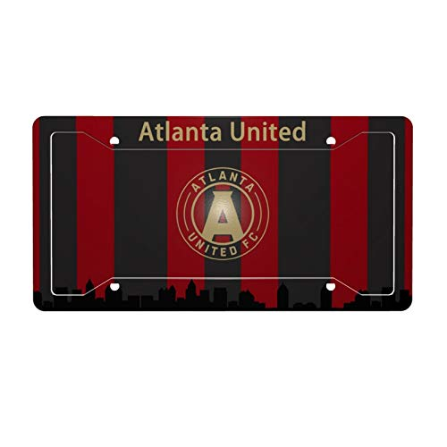 EROOU8W Atlanta United License Plate Car Frame Collage License Plate Frame Aluminum Atlanta United Without Accessories
