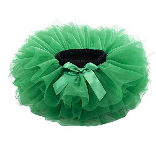 Baby Girls Tutu Skirt, Infant Tulle Tutus, Newborn Soft Skirts for Toddlers Green