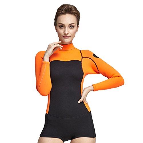 XDXART vrouwen wetsuits Jumpsuit Neopreen 2mm lange mouw korte been duiken snorkelen pak