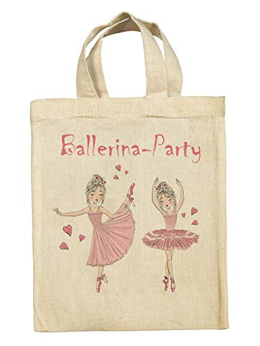 clothinx Divertidas bolsas de regalo para cumpleaños infantiles con diseño de dinosaurio, pirata, caballero, princesa, unicornio, sirena., Bailarina, 10er Pack