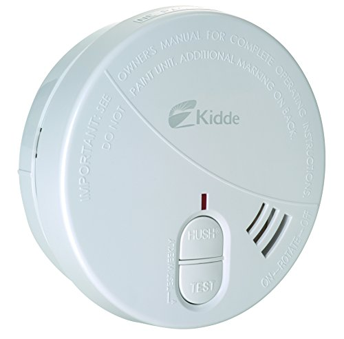 Kidde 002518.298029eh Detector de Humo óptico con batería de 9V Intercambiable, Color Blanco, 106x 106x 35mm