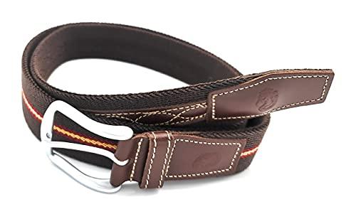 Ubrique Cinturon Elastico Hombre, Cinturon Hombre, Cinturon Bandera España Hombre, Elástico y Piel