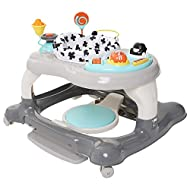 Walk, rock, bounce and spin! roundabout easily converts to rocker bouncer or walker so baby can experience the adventure of independent mobility or the delight of energetic jumping or rocking. The 360 degree rotating seat with supportive backrest all...