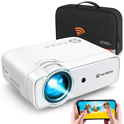 VANKYO Wi-Fi Mini Projector, Video Portable Projectors with Synchronize Smart Phone Screen, Full HD 1080P Supported, Wireless Mirroring Projector Compatible with iOS/Android Devices, Windows, PS5