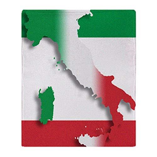 Pmhhc Italie Drapeau Italien Couverture en Flanelle Souple Couverture en Flanelle Souple À Allumer pour Le Canapé/Lit/Voiture Plaids Portables-70Cmx100Cm