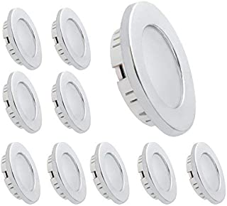 Dream Lighting LED Recessed Ceiling Light 3.5W Cool White Silver Pack of 10