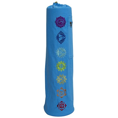 FIT SPIRIT 7 Chakra Exercise Yoga Mat Gym Bag w/Cargo Pocket