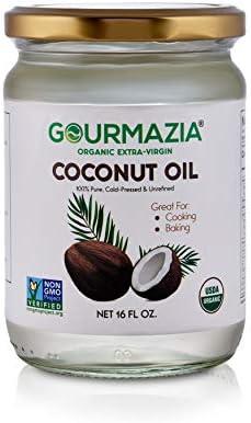 GOURMAZIA Extra Virgin Coconut Oil Unrefined Cold Pressed Plant Based Ultra Pure Non GMO Gluten product image