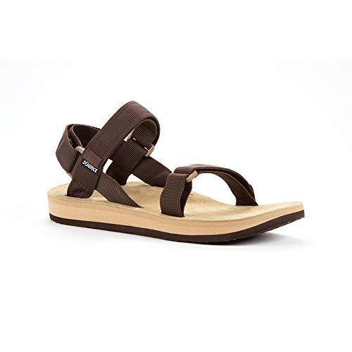 Source Herren Sandale Leather, Brown/Tan, 44, 101071IH44