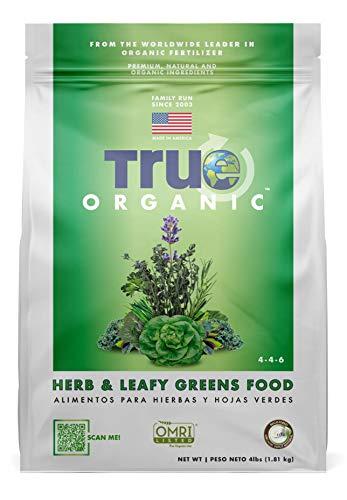 True Organic - Herb & Leafy Greens Plant Food 4lbs - CDFA, OMRI, for Organic Gardening…