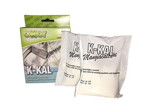 AXOR K-KAL Mangiacalcare per Lavatrici e Lavastoviglie - 2 buste da 125gr