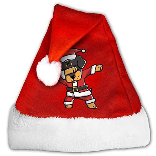 Divertido sombrero de Pap Noel, unisex para perro pekins, cmodo, rojo y blanco, de terciopelo de felpa para fiesta de Navidad