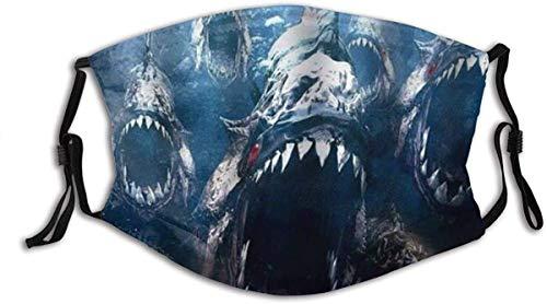 Phas Open Big Bandana Fierce Teeth Fishes Haze Cover Cover Washable Reusable,Hazeproof,Cycling