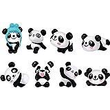 Figuras de Panda,8 Piezas Figuras Animales Decoracion Tarta Figuras de Acción de Panda...