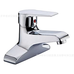 Furesnts Modern home kitchen and bathroom faucet Modern two-hole copper chrome hot and cold Mixer Tap Kitchen Bathroom Sink taps Kitchen Bathroom Sink taps bathroom basin taps ,(Standard G 1/2 universal hose ports)