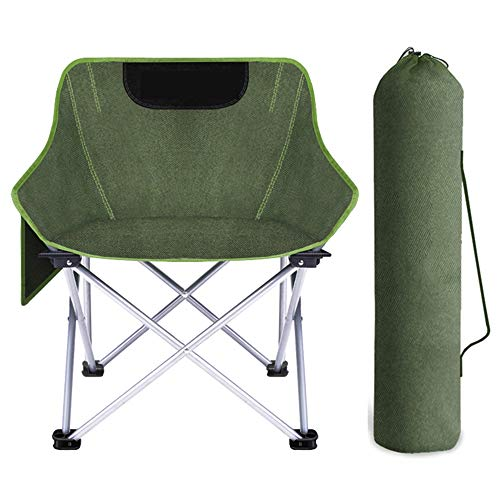 JQXB Lightweight Durable Compact Folding Camp Chair - Portable Chair Perfect for Festivals, Garden, Caravan Trips, Fishing, iron