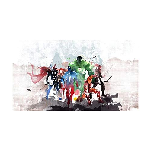 stampepersonalizzate.com - Imprimir en Lienzo - Formato Canvas - Formato 88X50 Solo Lienzo - Imprimir en Calidad fotográfica - Pinturas Cómics y cartones - The Avenger Watercolor Painting