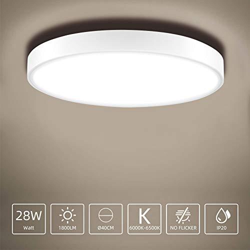 Sararoom Plafondlamp, LED-plafondlamp, rond, IP20, waterdicht, voor badkamer, slaapkamer, keuken, balkon, gang, kantoor, woonkamer