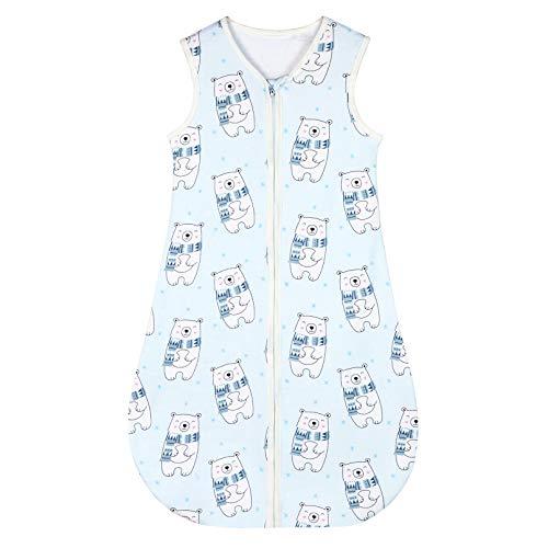 Yoofoss Schlafsack 100% Baumwolle Baby Schlafsack 80x45cm Bär-Muster Babyschlafsack Neugeborene im 6-18 Monaten