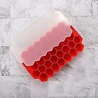 ウイスキーアイスキューブトレイシリコンキューブメーカー使用BPA無料キャンディプリンゼリージュースチョコレート (Color : C)