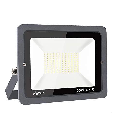 LED Foco exterior alto brillo Proyector led exterior de impermeable IP65,Blanco frio 3000K Iluminación led de seguridad, luz led para patio, camino, jardín (Blanco Frío, 100W-new)