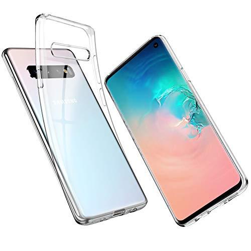 UNBREAKcable Samsung Galaxy S10 Hülle – Handyhülle Galaxy S10 Transparent Ultra-Slim Staubdicht, Weiche TPU-Silikon-Schutzhülle für Galaxy S10 mit Vergilbungs-Schutz & Anti-Scratch – Kristallklar