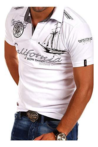 MT Styles Poloshirt CALFOR T-Shirt R-2371 [Weiß, 3XL]