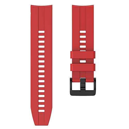 KAAGGF 22 mm Sport Silicone Wamkband para Huawei para Honor Magic Watch GT Banda de Pulsera de Correa Activa para Samsung Galaxy Watch 46mm Gear Gear S3 (Band Color : Red, Band Width : 22mm)