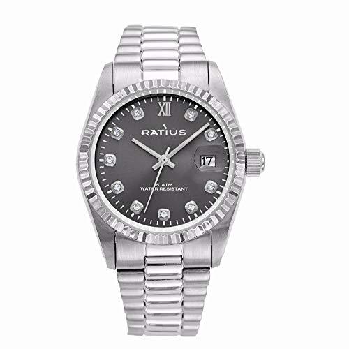 Ratius Damen Uhr 22.43006MGR.25 mit Schmucksteinen