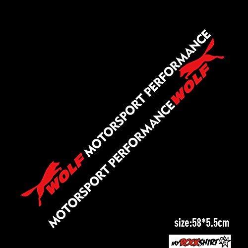 myrockshirt 2X Motorsport Performance Wolf 60cm Aufkleber kompatibel für Ford für Scheibe, Lack, Hochleistungsfolie,