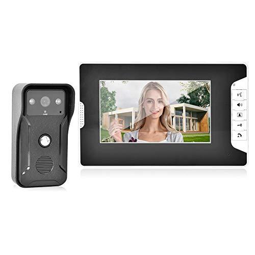 Kit Videocitofono, Campanello Video, Videocitofono monofamiliare TFT da 7 Pollici con Visione Notturna, Scheda RFID Apri Lo Sportello(EU)