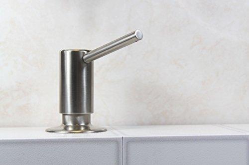 Dispensador de jabón de níquel cepillado de lujo, fabricado en el Reino Unido, montado en la plataforma