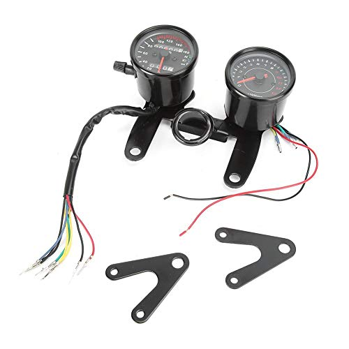 Gorgeri Motocicleta Tacómetro, Universal Moto Odómetro Velocímetro Retro Modificado Instrumento Accesorio