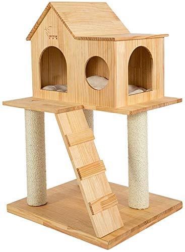 AYHa Árbol de verano Árbol Nido de gato Casa de gato Cera de madera Aceite Verde Madera Pino Nido de gato Árbol de gato Árbol de gato