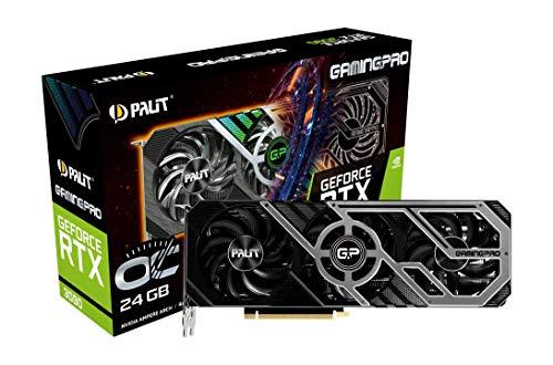 Palit GeForce RTX 3090 GamingPro OC Tarjeta gráfica GDDR6X de 24 GB, núcleo 10496, GPU de 1395 MHz, Boost, 3 DisplayPort, HDMI, Advanced TurboFan 3.0