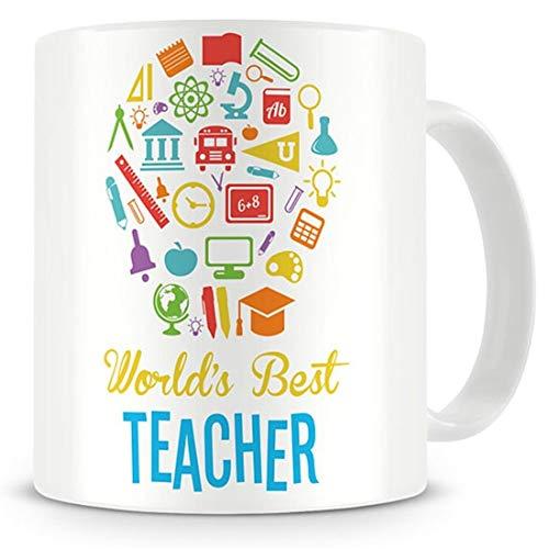World's Best Teacher – Taza de café – Regalos para profesores, profesores, profesores